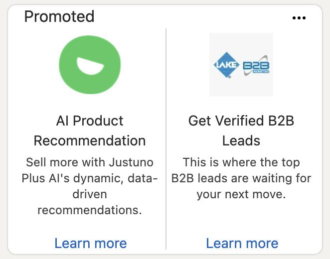 LinkedIn ad - text ad